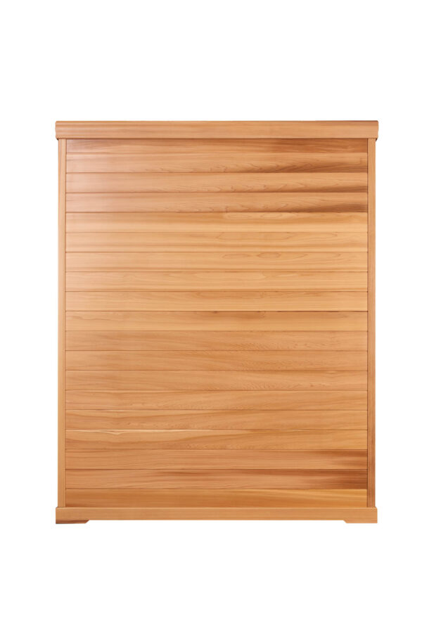 3 Person Infrared Sauna Red Cedar Back