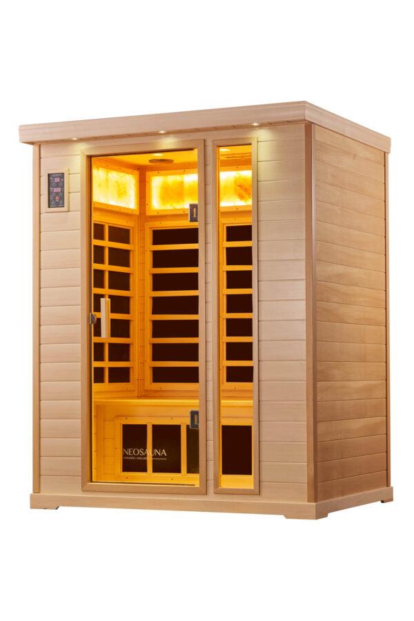 3 Person Infrared Salt Sauna Basswood