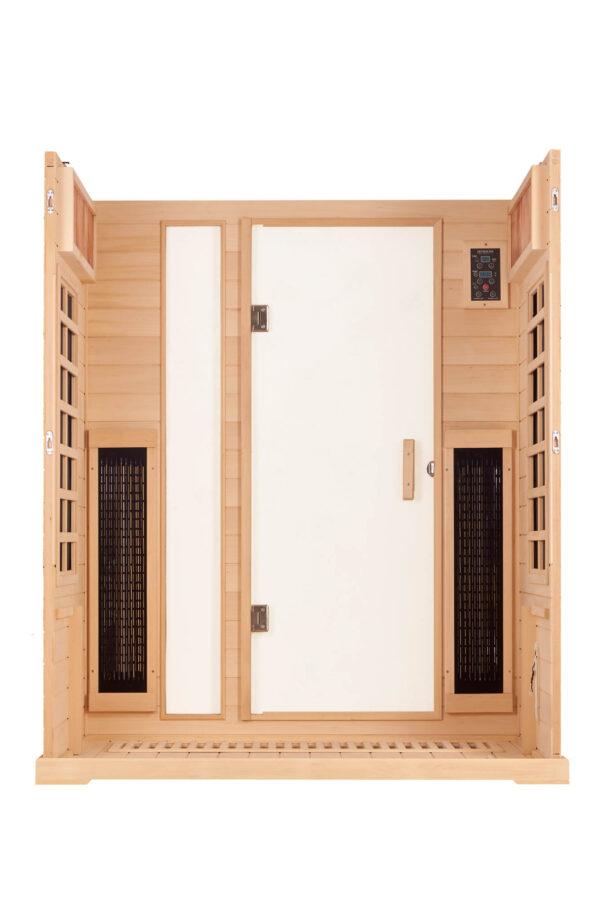 3 Person Low EMF Infrared Sauna Inside
