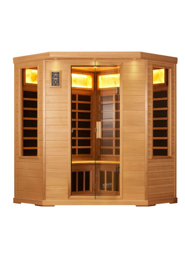 Corner Infrared Sauna Serenity Red Cedar