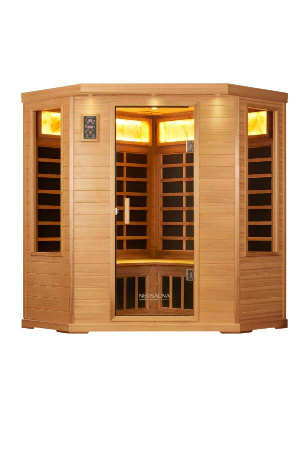 Corner Infrared Sauna Neosauna Serenity Red Cedar