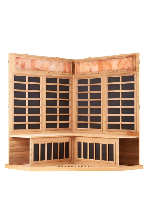Corner Sauna Neosauna Serenity in Red Cedar