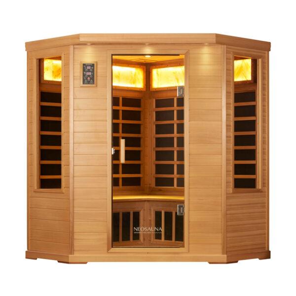 Neosauna Corner Sauna in Red Cedar - Serenity