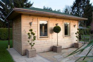 A modern Finnish outdoor sauna