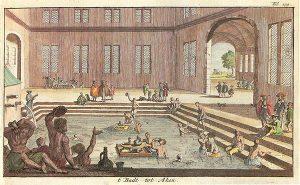 An artist depiction of an ancient Greek bathhouse