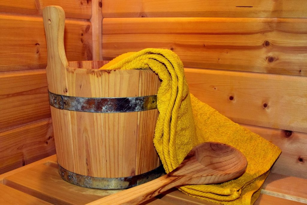 Bucket Used in a Sauna